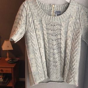 Sparkly gray and gold sweater